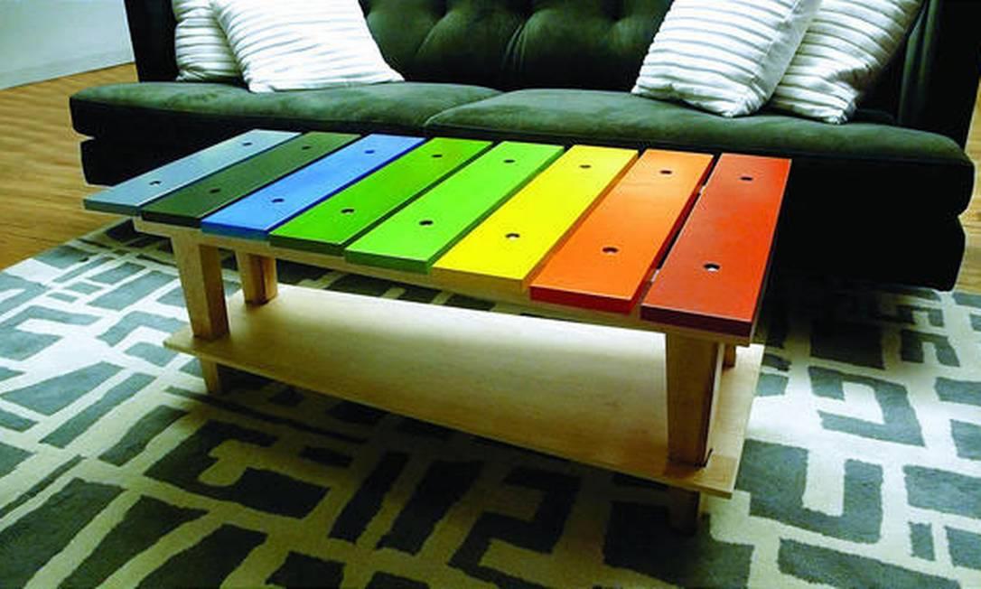 'Music table', a mesa-xilofone da Jellio Reprodução