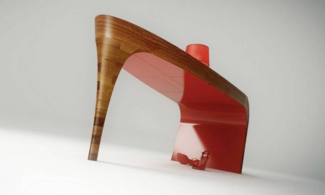 As fashionistas vão amar a Stiletto Table, desenhada pelo escritório Splinter Works Reprodução