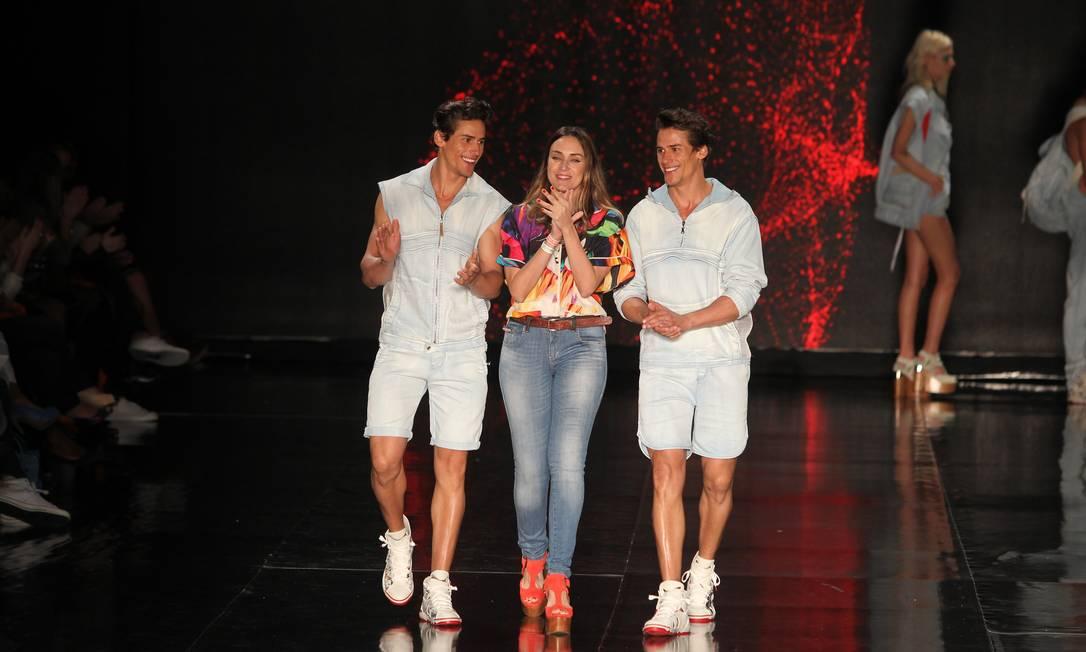 Os gêmeos Márcio e Marcos Patriota foram a grande atração do desfile da Coca-Cola Clothing Alexandre Cassiano / O Globo