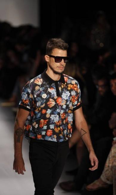 Foi a primeira vez que as estampas ficaram ao gosto do estilista Ricardo Bräutigam, o Cadinho Fabio Rossi / O Globo