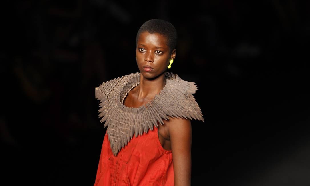 OEstudio foi a grife que mais apresentou modelos negros em sua passarela Fabio Rossi / O Globo