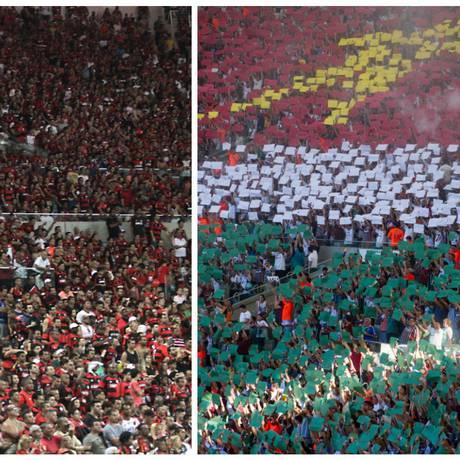 Torcidas de Flamengo e Fluminense em foto de arquivo Foto: Divulgação