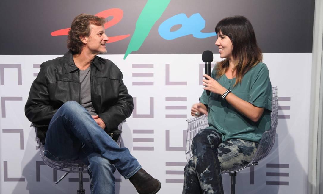 Carol Novaes entrevistou o ator Marcello Novaes Ana Branco / Ana Branco