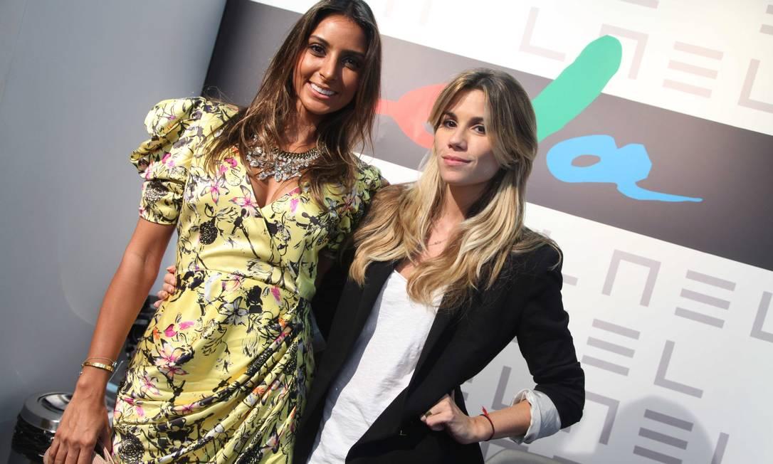 Flavia Sampaio e a estilista da filhas de Gaia, Marcela Calmon Ana Branco / Ana Branco