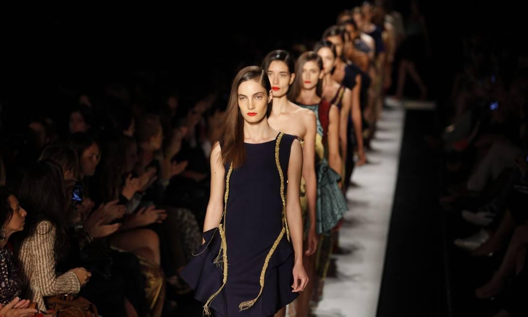 Estilista se inspirou na mulher italiana para criar looks elegantes Fabio Rossi/O Globo
