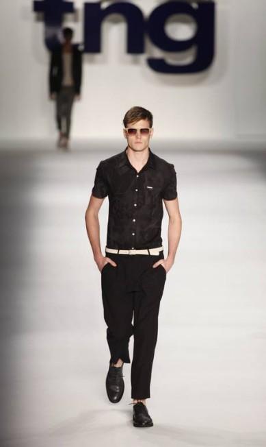 O preto também foi uma das cores principais da coleção Fabio Rossi / O Globo