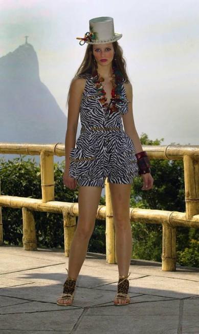 A grife Sommer foi até a Vista Chinesa para realizar seu desfile de verão, em 2006 Simone Marinho / Agência O Globo