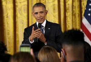 Desde que chegou à Casa Branca, Obama tenta emplacar um controle mais rigoroso da venda de armas Foto: KEVIN LAMARQUE / REUTERS