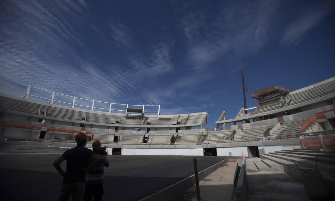Arquibancadas do Centro Olímpico de Tênis estão quase prontas Alexandre Cassiano / Agência O Globo
