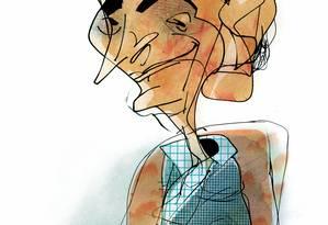 Caricatura do cronista e autor Pico Iyer Foto: Cavalcante / Editoria de Arte