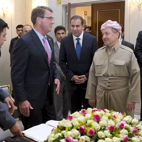 Carter visitou autoridades curdas no Iraque antes de ataque turco Foto: Carolyn Kaster / REUTERS