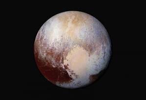 Sonda da Nasa mostra Plutão envolto em neblina Foto: Divulgação/Nasa