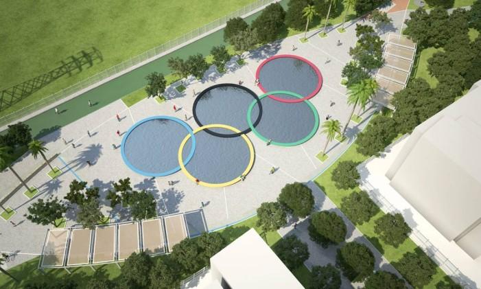 Aros olímpicos serão instalados no Parque de Madureira Foto: O Globo