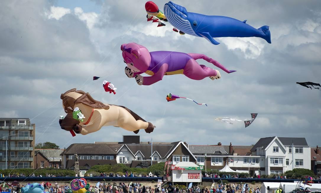 O evento será realizado até domingo em uma praia de Lytham St Annes OLI SCARFF / AFP