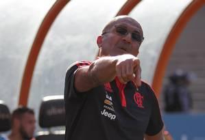 Cristóvão Borges durante a vitória do Flamengo sobre o Goiás no Serra Dourada Foto: Ailton de Freitas / Agência O Globo