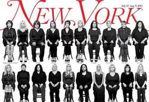Capa da 'New York Magazine' sobre o escândalo de abuso sexual envolvendo Bill Cosby Foto: Reprodução