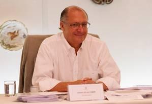 O governador de São Paulo Geraldo Alckmin Foto: Michel Filho/02-01-2015 / Agência O Globo