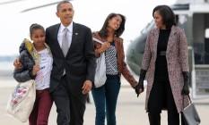 Barack Obama, Michelle, Malia e Sasha: família de estilo Foto: JEWEL SAMAD / AFP