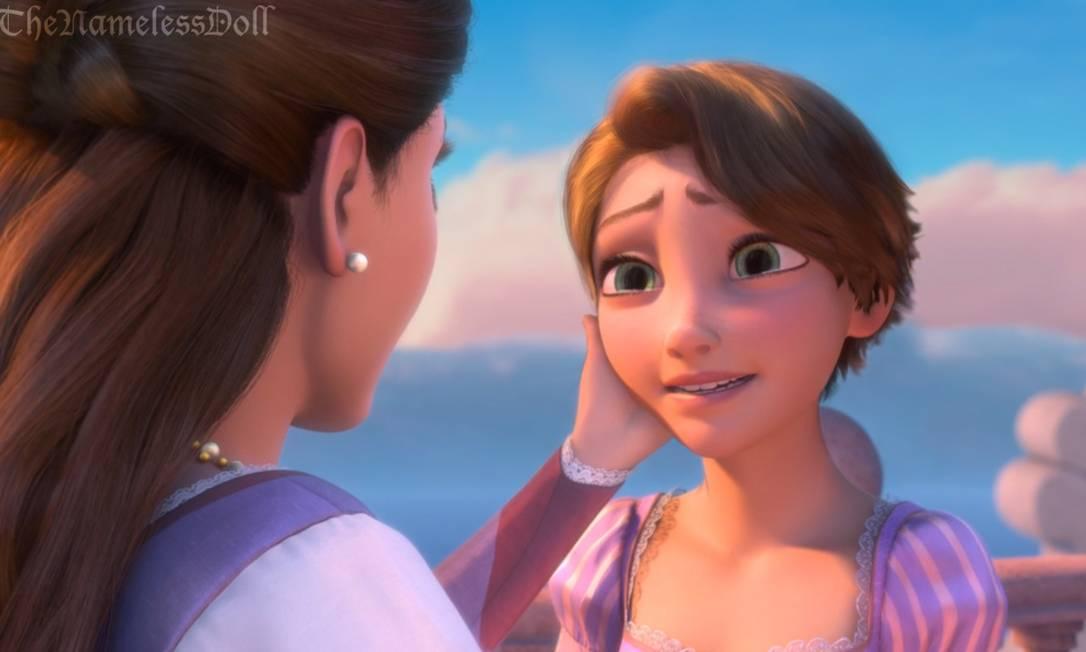 Rapunzel e seu novo look, fios bem curtos Reprodução/ Tumblr