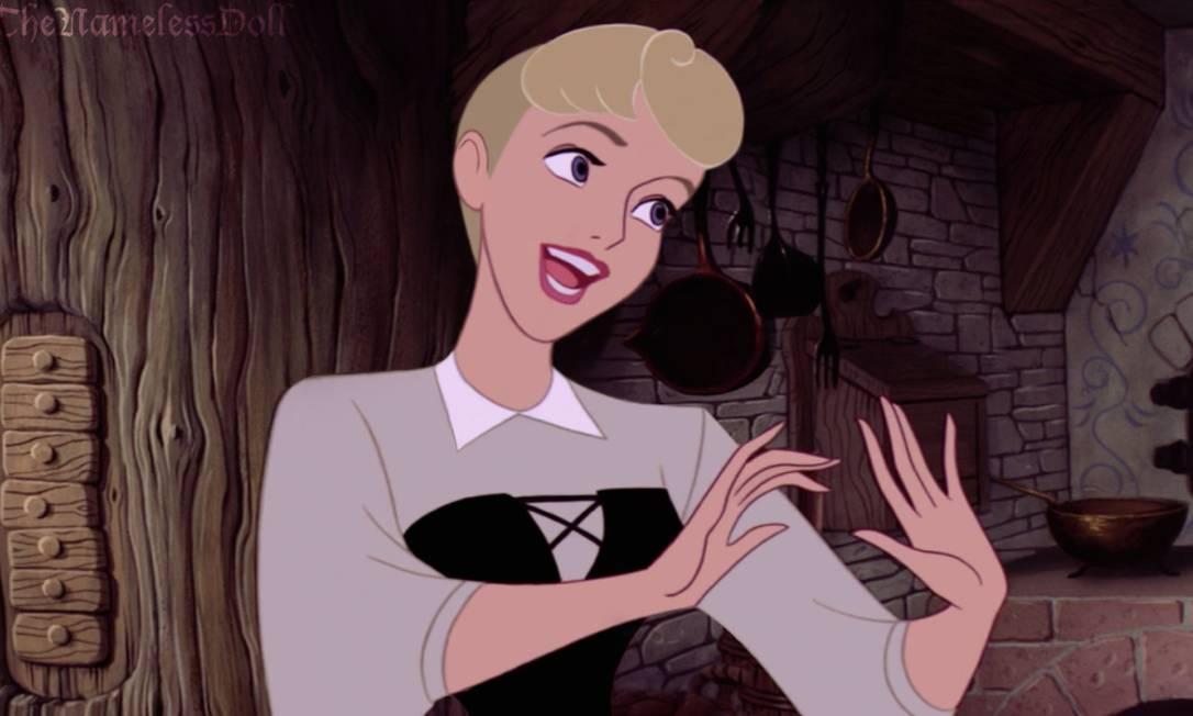 """A princesa Aurora, de """"A bela adormecida"""", seguiu pelo mesmo caminho de Cinderela Reprodução/ Tumblr"""