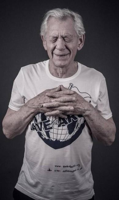 O ator Ian McKellen Andy Gotts