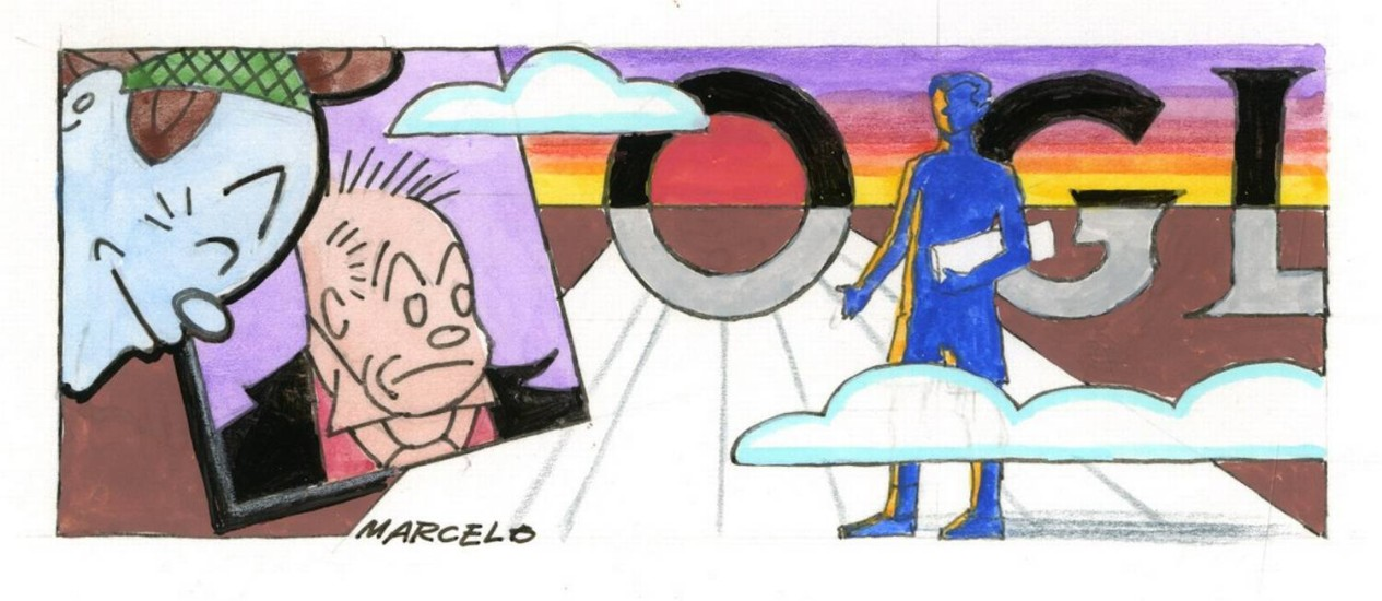 OP Rio de Janeiro (RJ) 23/07/2015 Ilustração para o artigo de Arnaldo Jabor para os 90 anos do Globo. Desenho Marcelo Foto: Agência O Globo