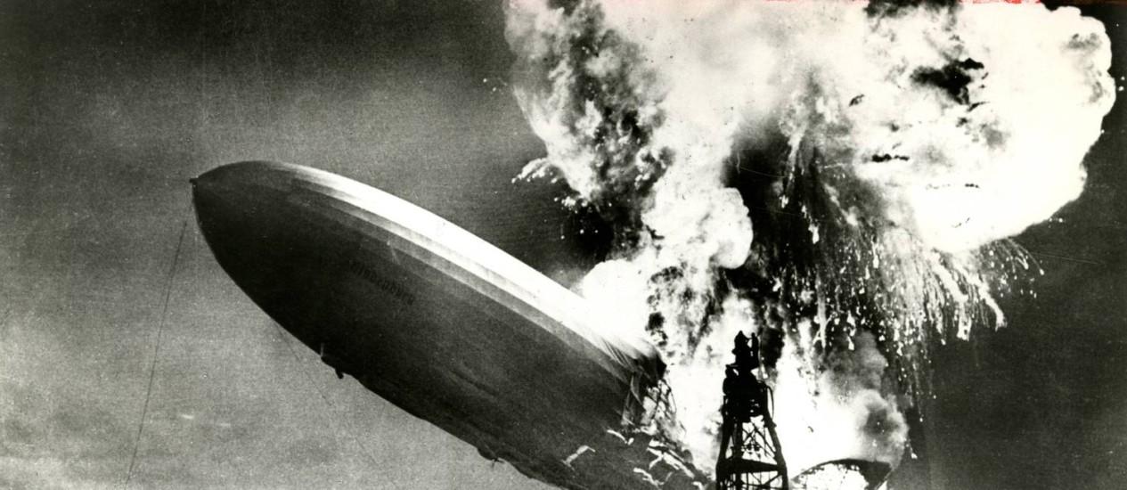 Tragédia. Foi histórica a do dirigível Hindenburg Foto: Terceiro / Arquivo/6-05-1937