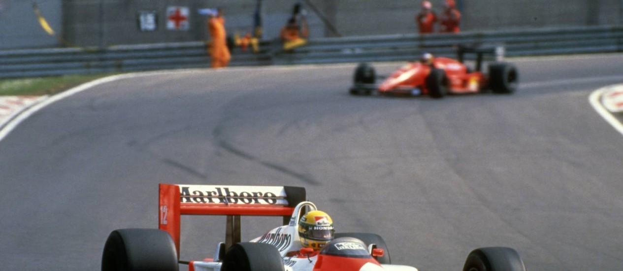 Ayrton Senna em Suzuka, no Japão. Foto: Terceiro / Divulgação/1988