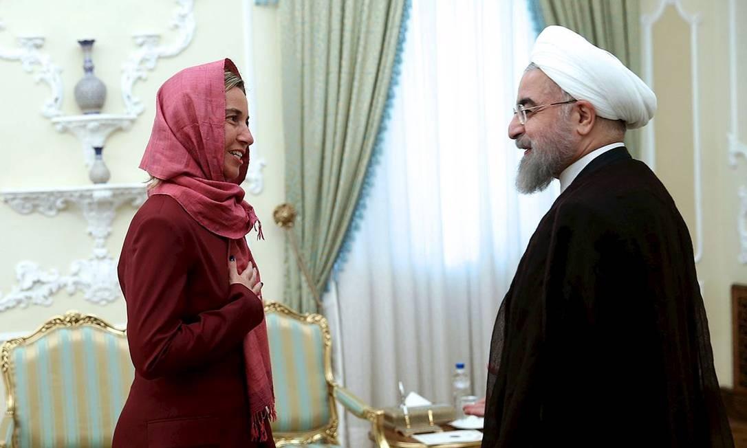 Mogherini e Rouhani se reúnem em Teerã Foto: President.ir / REUTERS