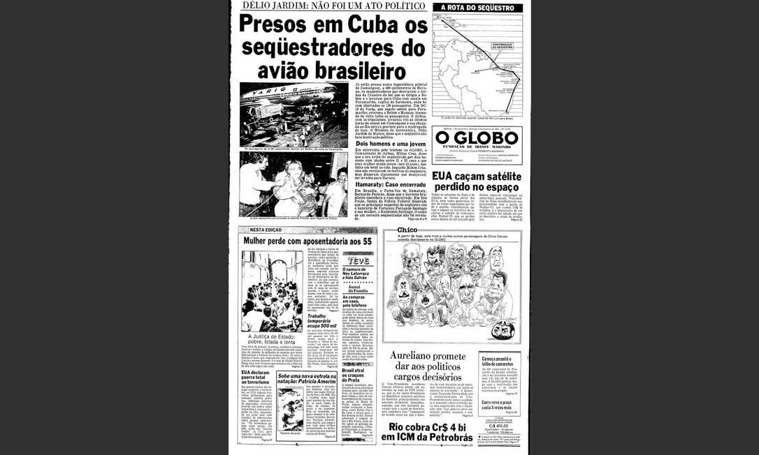 Charge. Em 1984, a estreia de Chico Caruso na capa