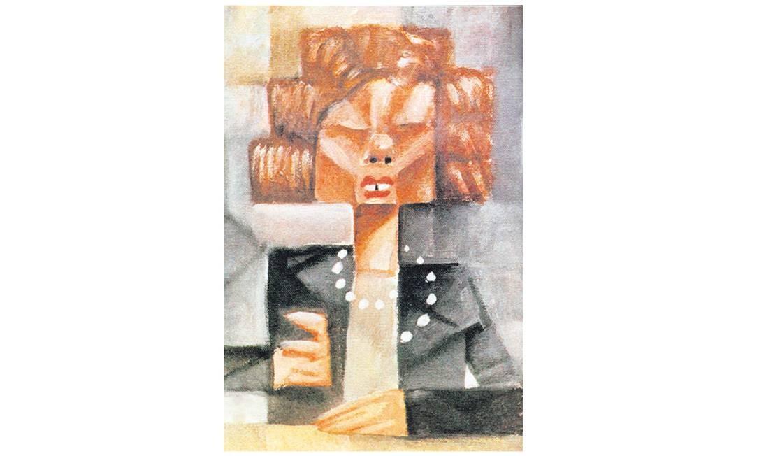Cubismo. A ministra da fazenda de Collor, Zélia Cardoso de Mello, no traço de CHico: charge publicada em 26 de março de 1990