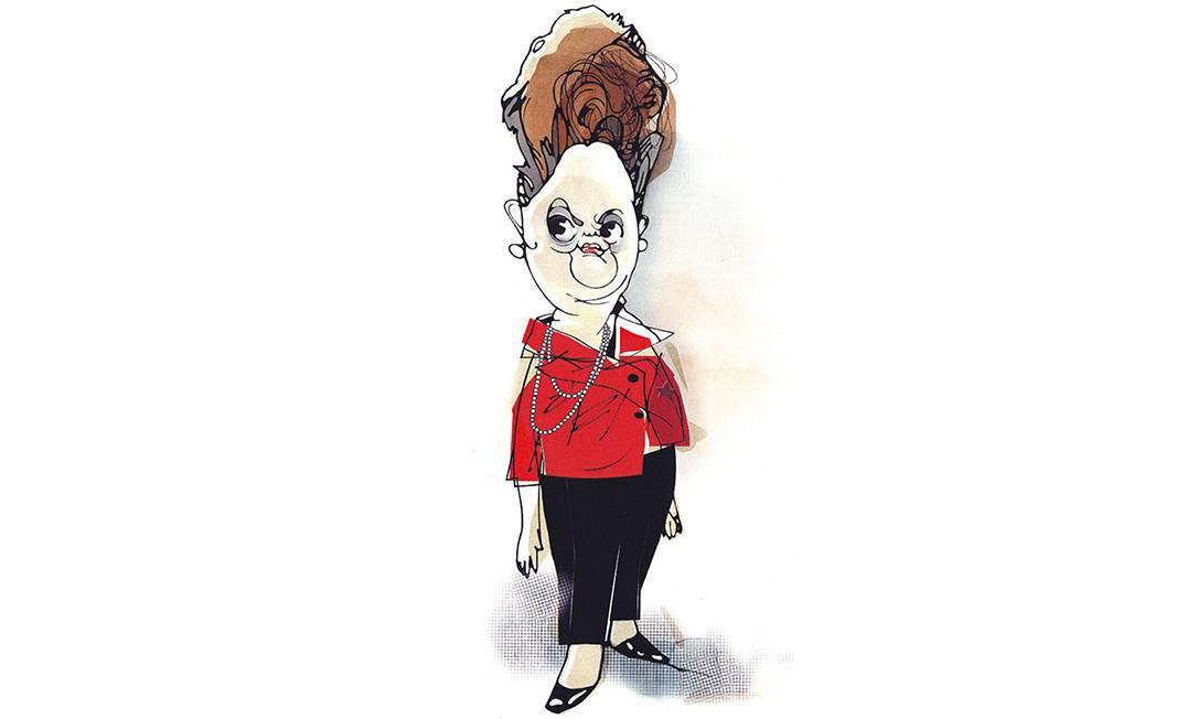 Presidente. Dilma Rousseff em caricatura de Cavalcante publicada em 25 de maio de 2013