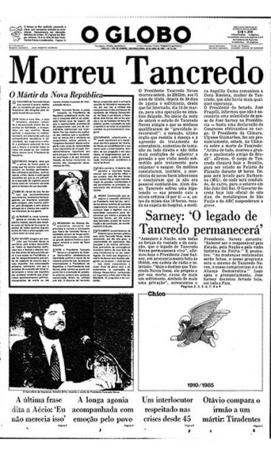 Tragédia nacional. A morte de Tancredo Neves causou comoção em todo o país