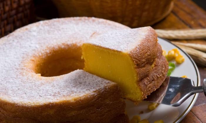 Bolo de milho tradicional do Cafeína Foto: Divulgação