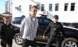Flávio David Barra, executivo da Andrade Gutierrez faz exame corpo delito no IML em Curitiba, ele foi presos na 16ª fase da Operação Lava-Jato, denominada Radioatividade