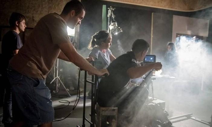 Ação. Alunos da Academia Internacional de Cinema, em aula prática Foto: Yuri Pinheiro / Divulgação