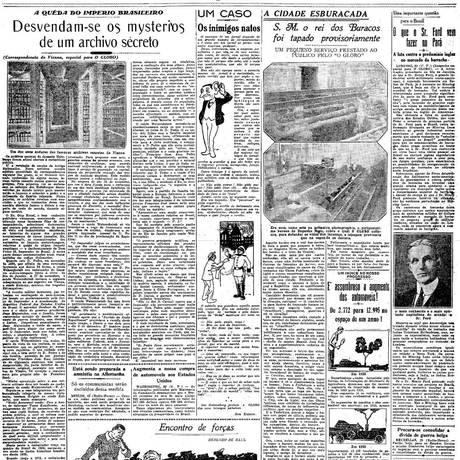 Capa da primeira edição do GLOBO, em 1925 Foto: