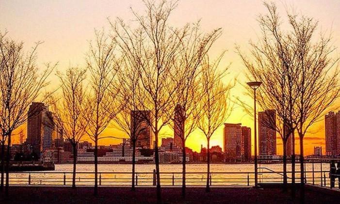 Pôr do Sol em Nova York Foto: @brunowendler / Instagram