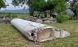 Imagem de vídeo mostra peça de destroço de um avião em Saint-Andre, na Ilha Reunião