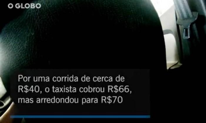 Taxistas arredonda valor de corrida e pede caixinha para o passageiro Foto: O Globo