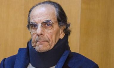 O empresário Mário Góes, na sede da Justiça Federal em Curitiba (PR) Foto: Júnior Pinheiro/Folhapress
