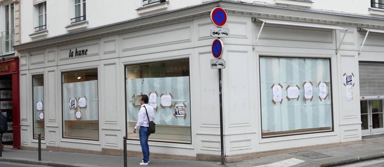 Páginas viradas. Livraria La Hune, em Paris, a mais recente a fechar as portas Foto: Fernando Eichenberg / Divulgação