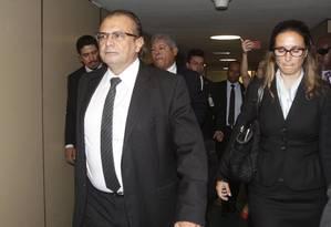 Ex-gerente de Serviços da Petrobras Pedro Barusco chega ao Congresso Foto: Givaldo Barbosa / Agência O Globo