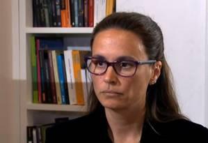 Entrevista da advogada Beatriz Catta Preta ao Jornal Nacional Foto: TV-Globo / Reprodução