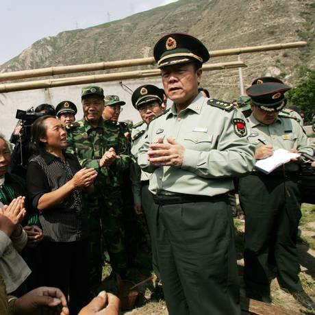 Guo Boxiong em 2008: chefe militar entra na mira do Partido Comunista Foto: STR / AFP