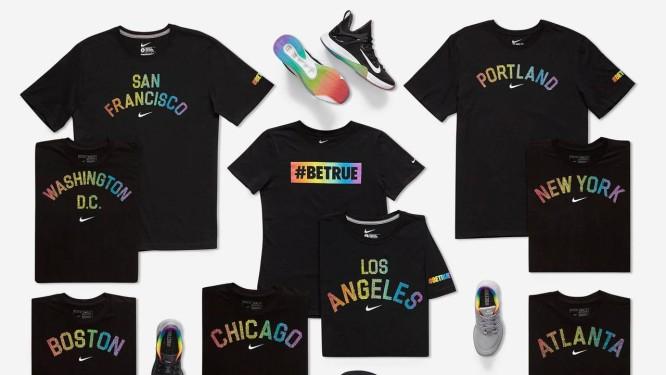 Linha de produtos #BeTrue, da Nike: novo alvo das políticas russas contra os homossexuais Foto: Divulgação/Nike