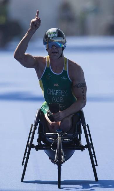 O australiano Bill Chaffey comemora a vitória Felipe Dana / AP