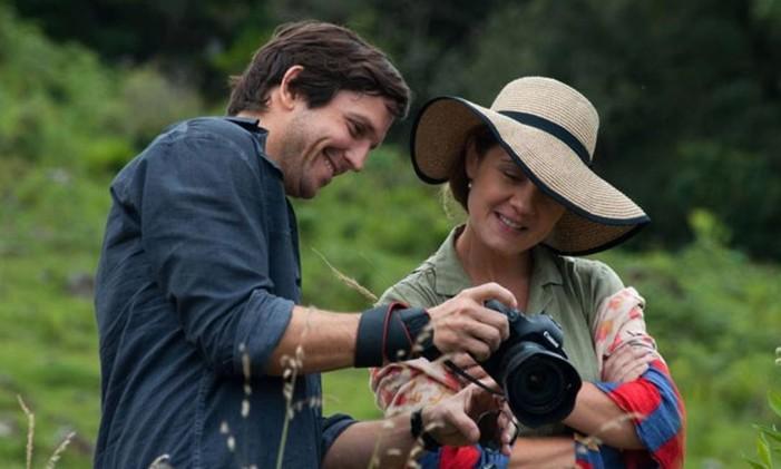 Vladmir Brichta e Adriana Esteves em 'Real beleza' Foto: Reprodução