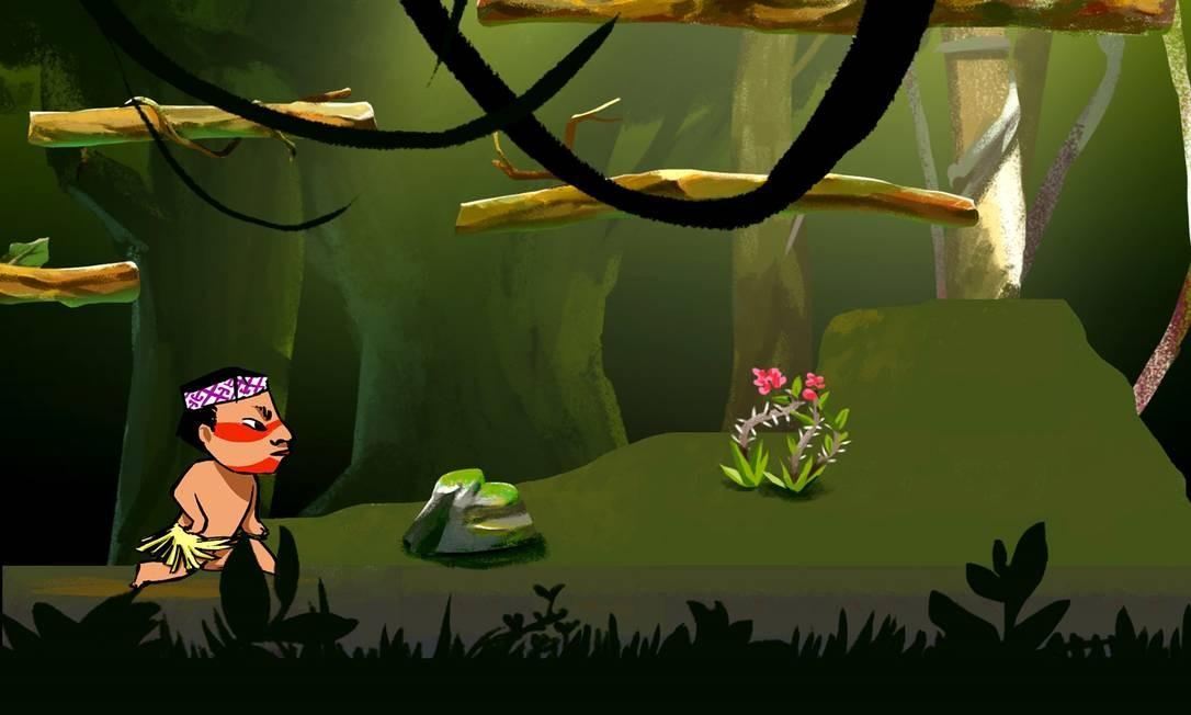 Cena do jogo 'Huni Kuin - Os caminhos da jiboia' Foto: Reprodução