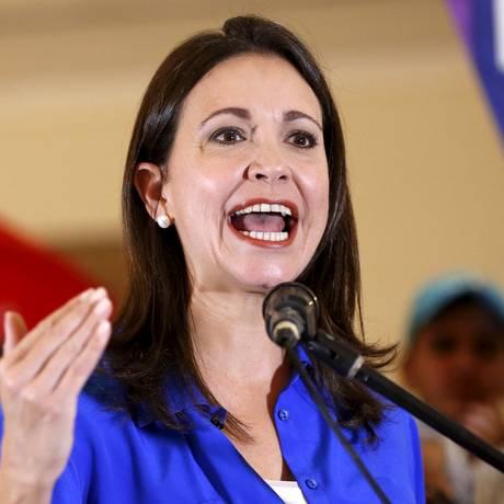 """María Corina: """"Vou defender meu direito de ser candidata e, principalmente, o direito dos cidadãos de eleger quem quiserem"""" Foto: Carlos Garcia Rawlins / REUTERS/15-7-2015"""